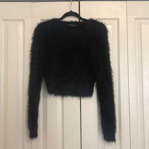 BRANDY MELVILLE black fuzzy sweater
